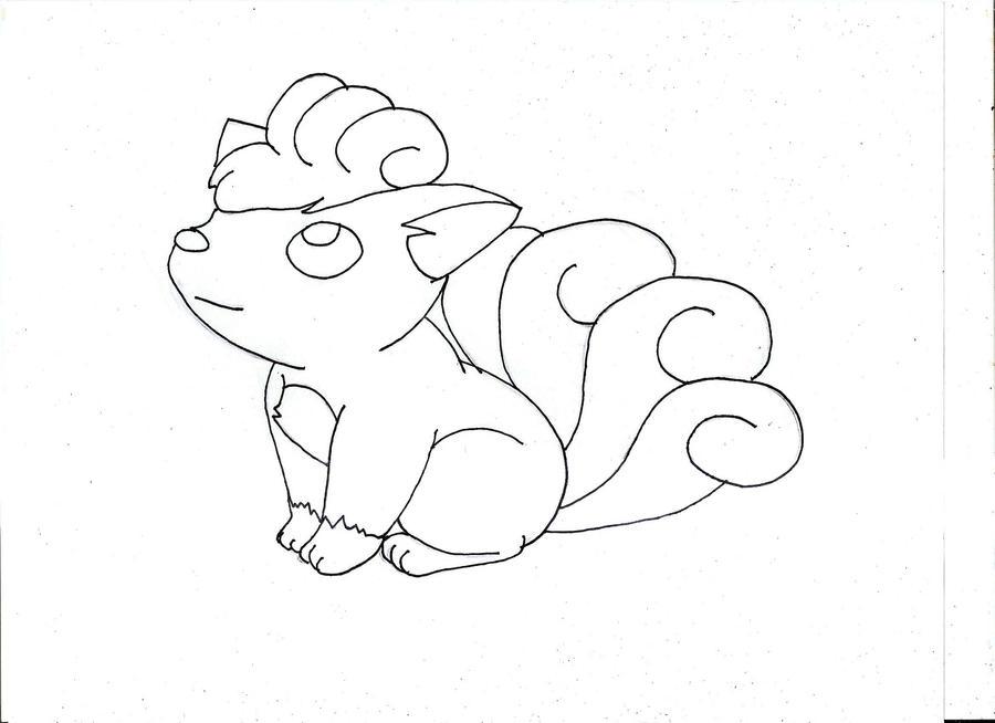 Vulpix fox pokemon by voltrozaur on deviantart for Vulpix coloring pages