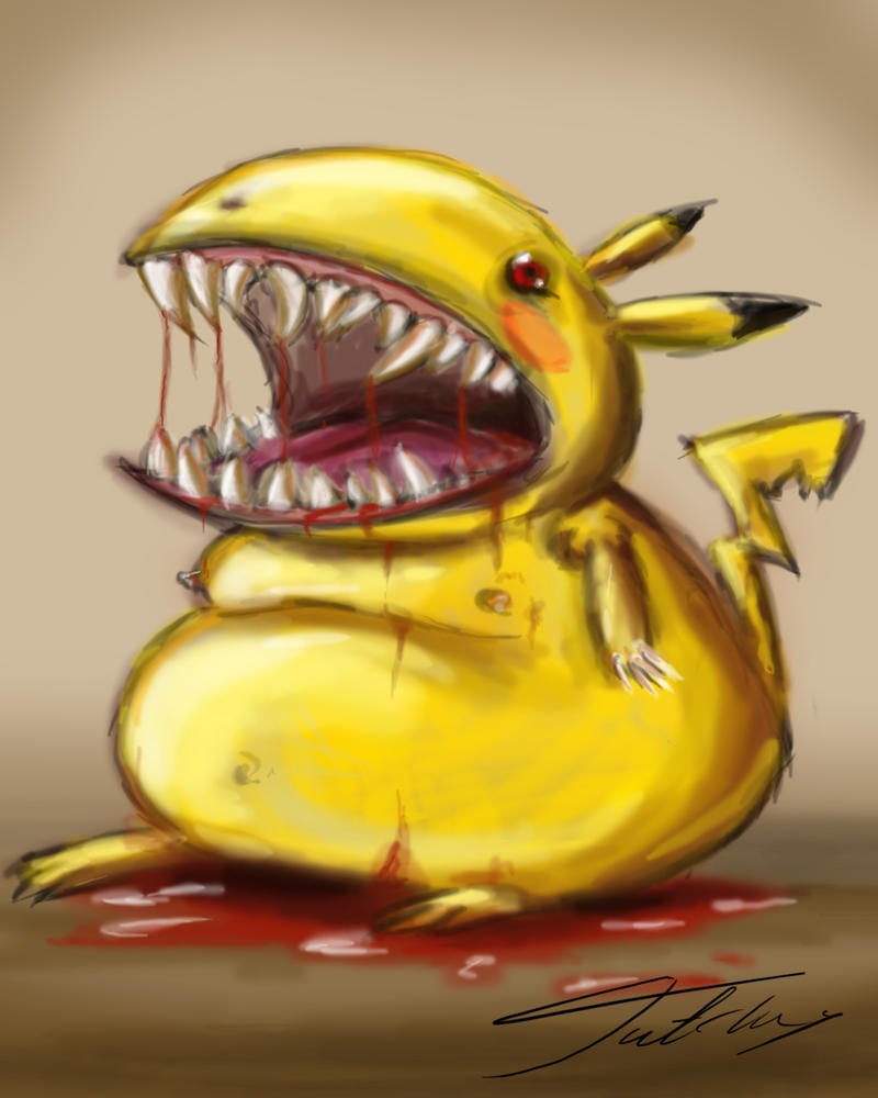 Evil pikachu by Jutchy