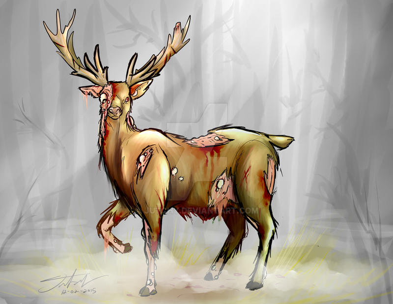 Infected Deer by Jutchy