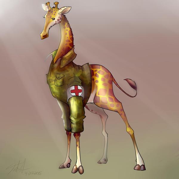 Medic Giraffe by Jutchy