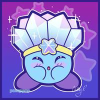 Ice Kirby by PompPup