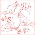 Chatlands/Wolfing Pose Ych