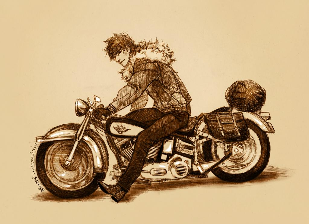 Boone - biker! AU by Hi-Ku