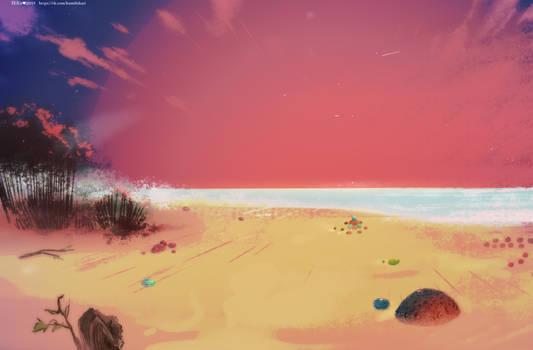 My inner beach by Hi-Ku