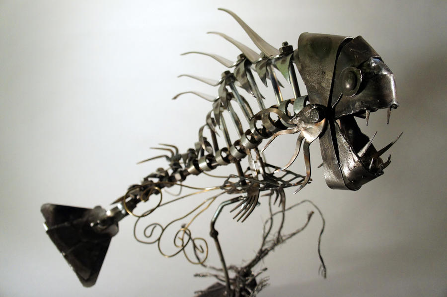 Scrap metal fishy 3 by devin francisco on deviantart for 13 fishing a3