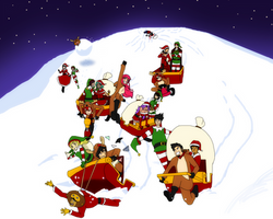 ONEPIECE OC: A race through Christmas by triptime245