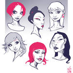 Some asian faces