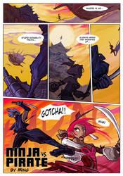 Ninja vs Pirate by ming85