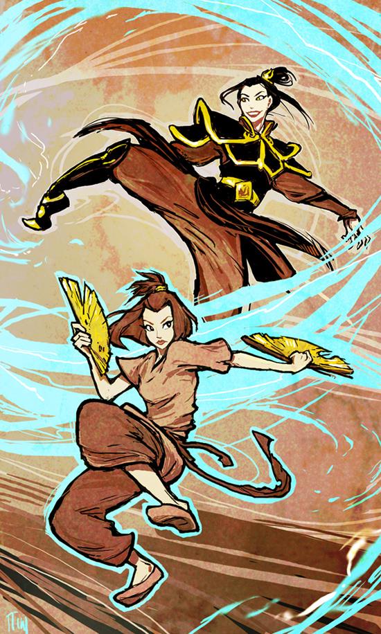 Suki and Azula by ming85