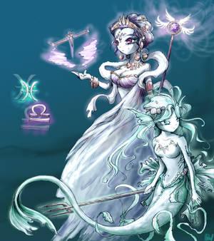 Zodiak: Pisces and Libra