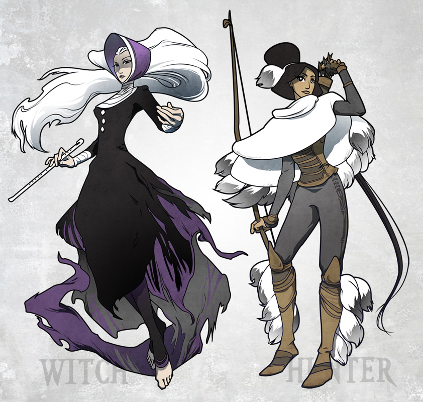 Winter Witch And Hunter By Ming85 On Deviantart