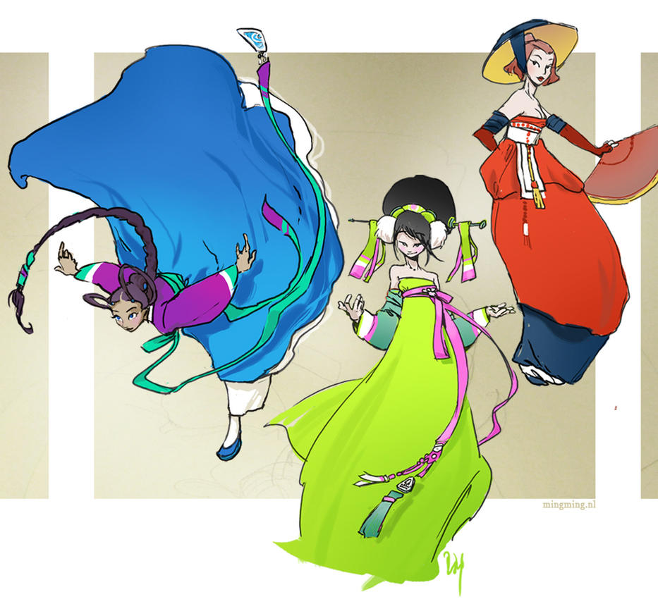more hanbok doodles by ming85