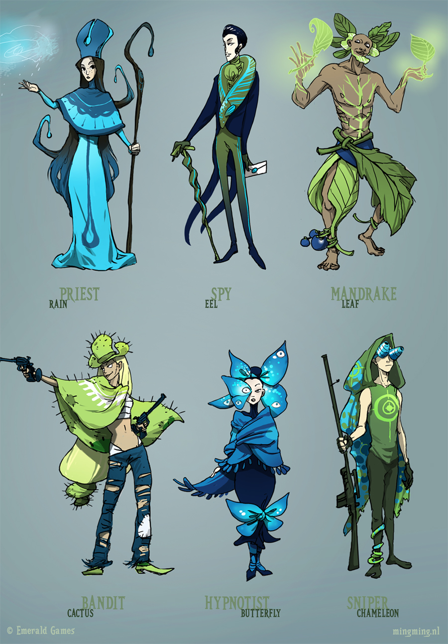 Game Design Character Classes : Spring classes various by ming on deviantart