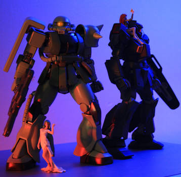 magical girls and mobile suits by BetaBucky