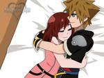 Sora x Kairi   Cuddling