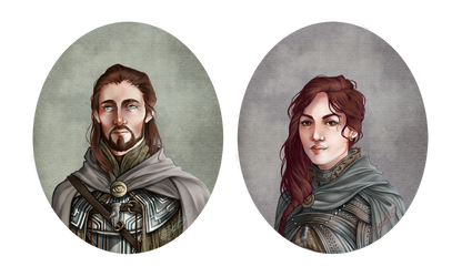 :COMM: Justine et Auguste by Sybarico