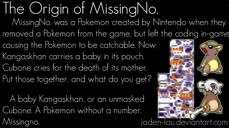 The Origin of MissingNo by Jaden-Lau