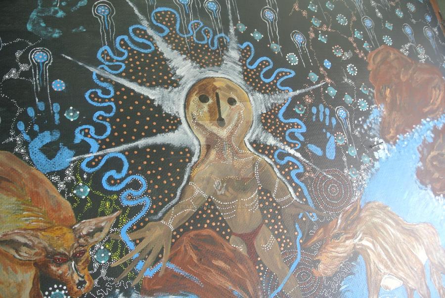 Aboriginal Mural painting 2 by traditionaldot