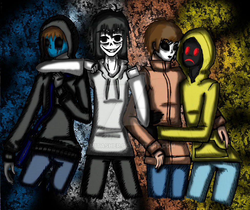Eyeless Jack, Jeff the Killer, Masky and Hoodie by ...
