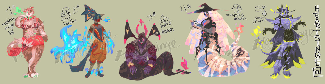 (CLOSED) One-off Designs Adoption Auction !!!