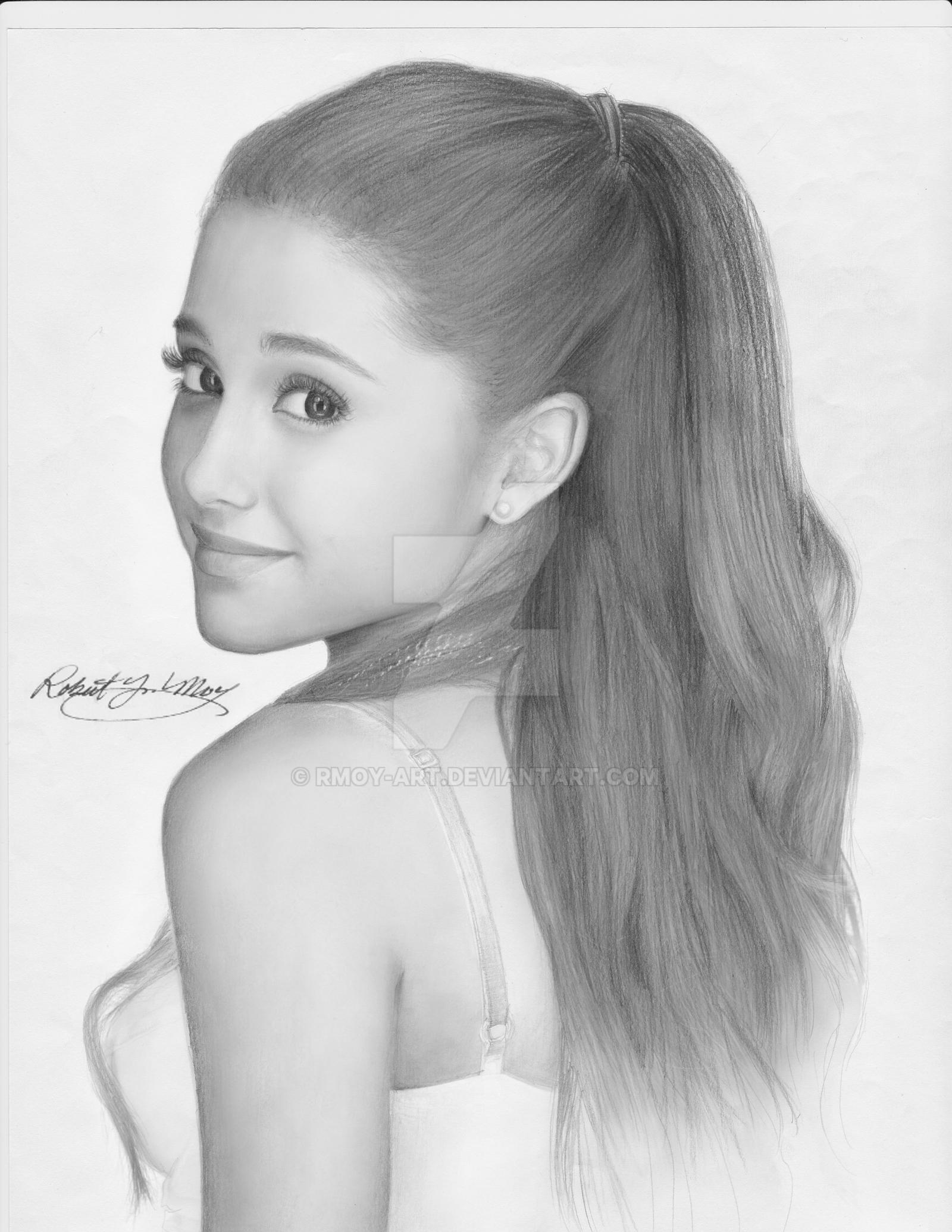 Ariana Grande Pencil Portrait By Rmoy Art On Deviantart