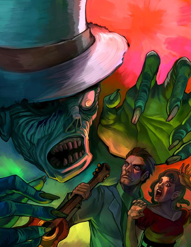 Rockabilly Zombie by BonsaiMechaGirl