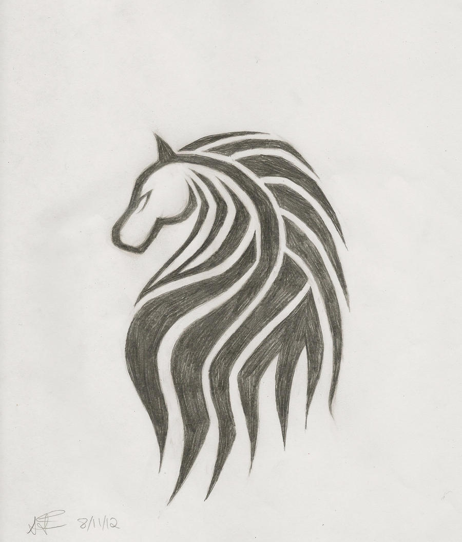 Horse head tattoo design by sapphiresoul102 on deviantart for Horse head tattoo designs
