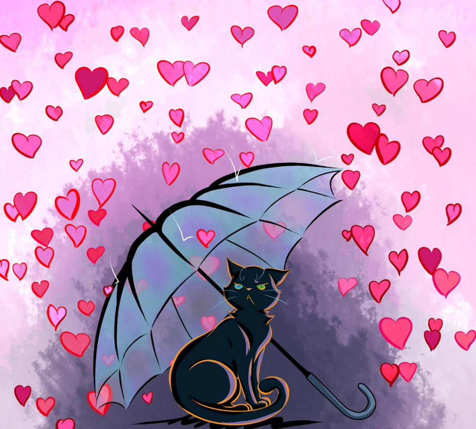 black cat valentines day by aka chan57 - Cat Valentines Day