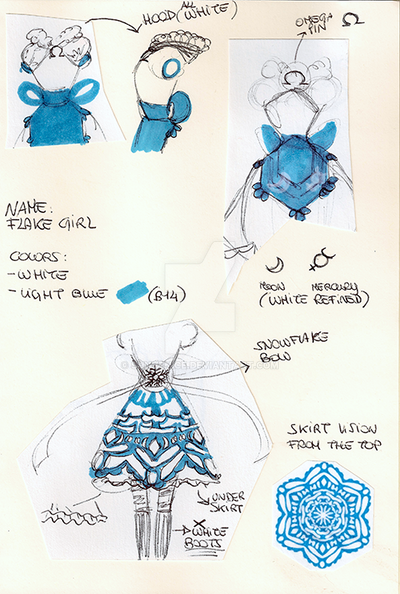 Flake Girl Dress Design by SunVenice