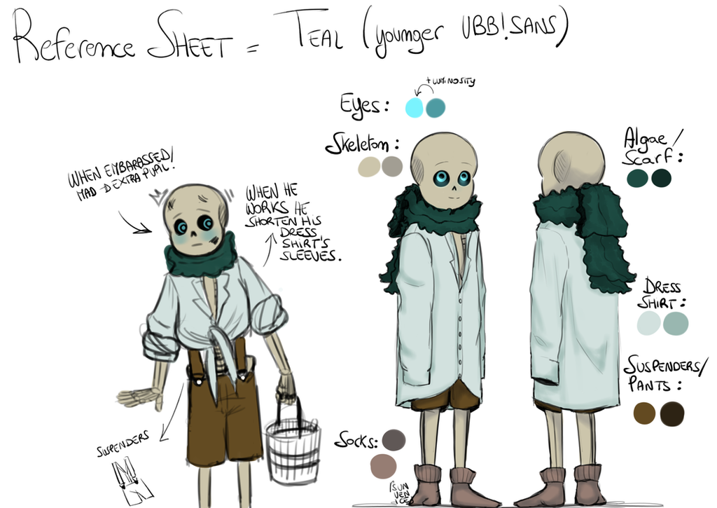 Teal Reference Sheet by SunVenice