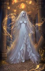 lady in white by Alenari