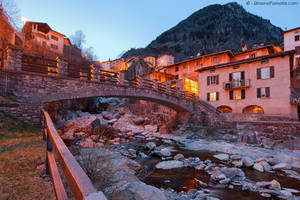 Branzi - Bridge and village by SimonePomata