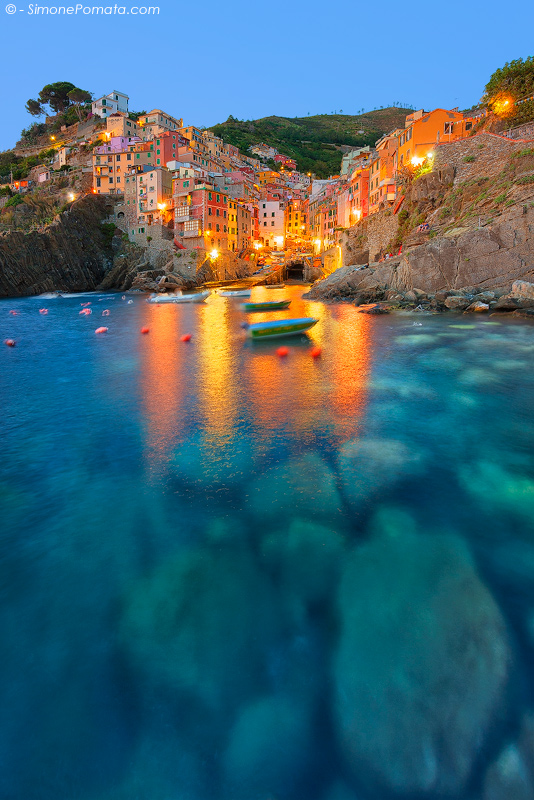 Lights at Riomaggiore by SimonePomata