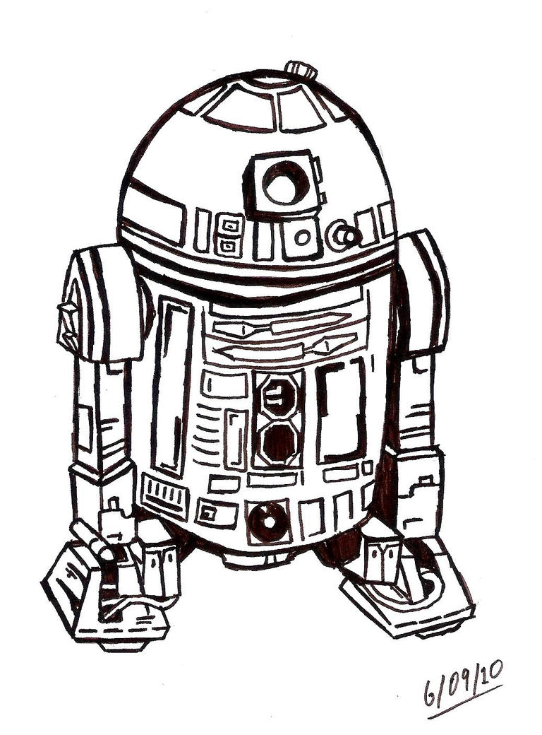 R2d2 Black And White R2-D2 by intothewild14...