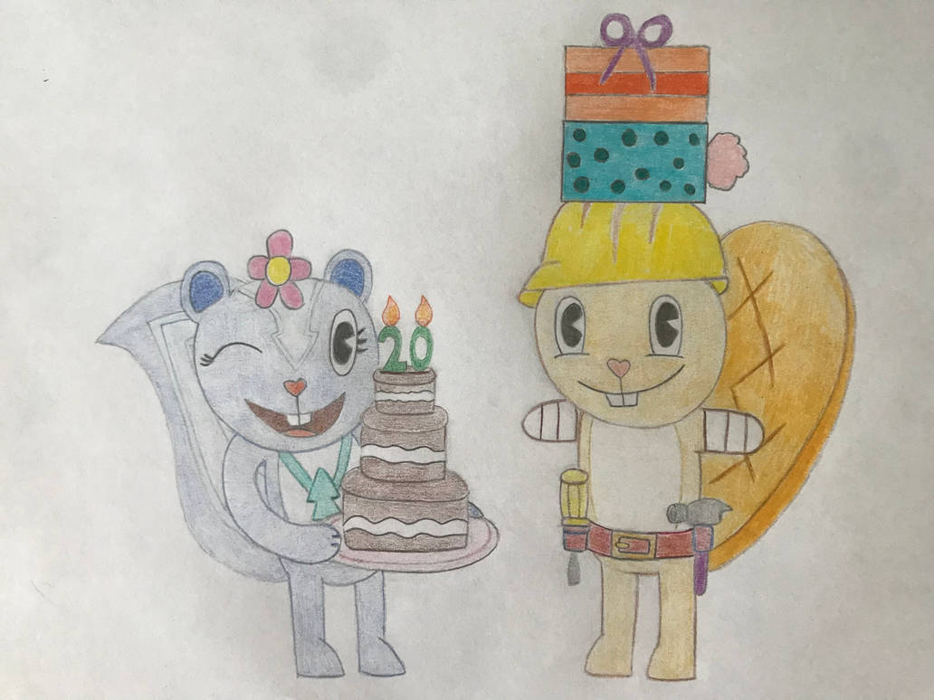 Happy Birthday from Handy and Petunia