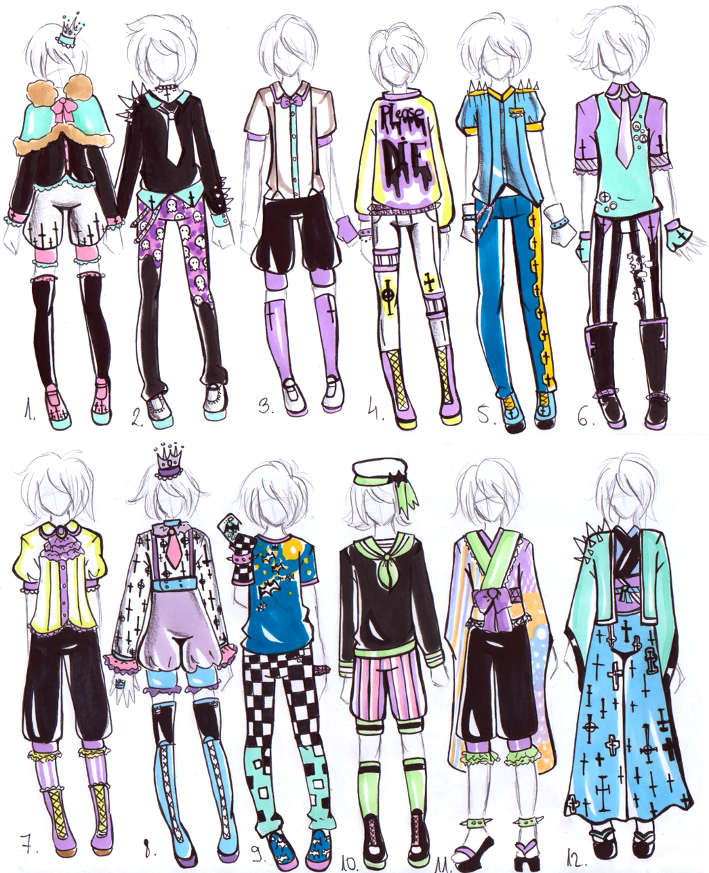CLOSED MALE Pastel Goth OUTFITS By Guppie Vibes On