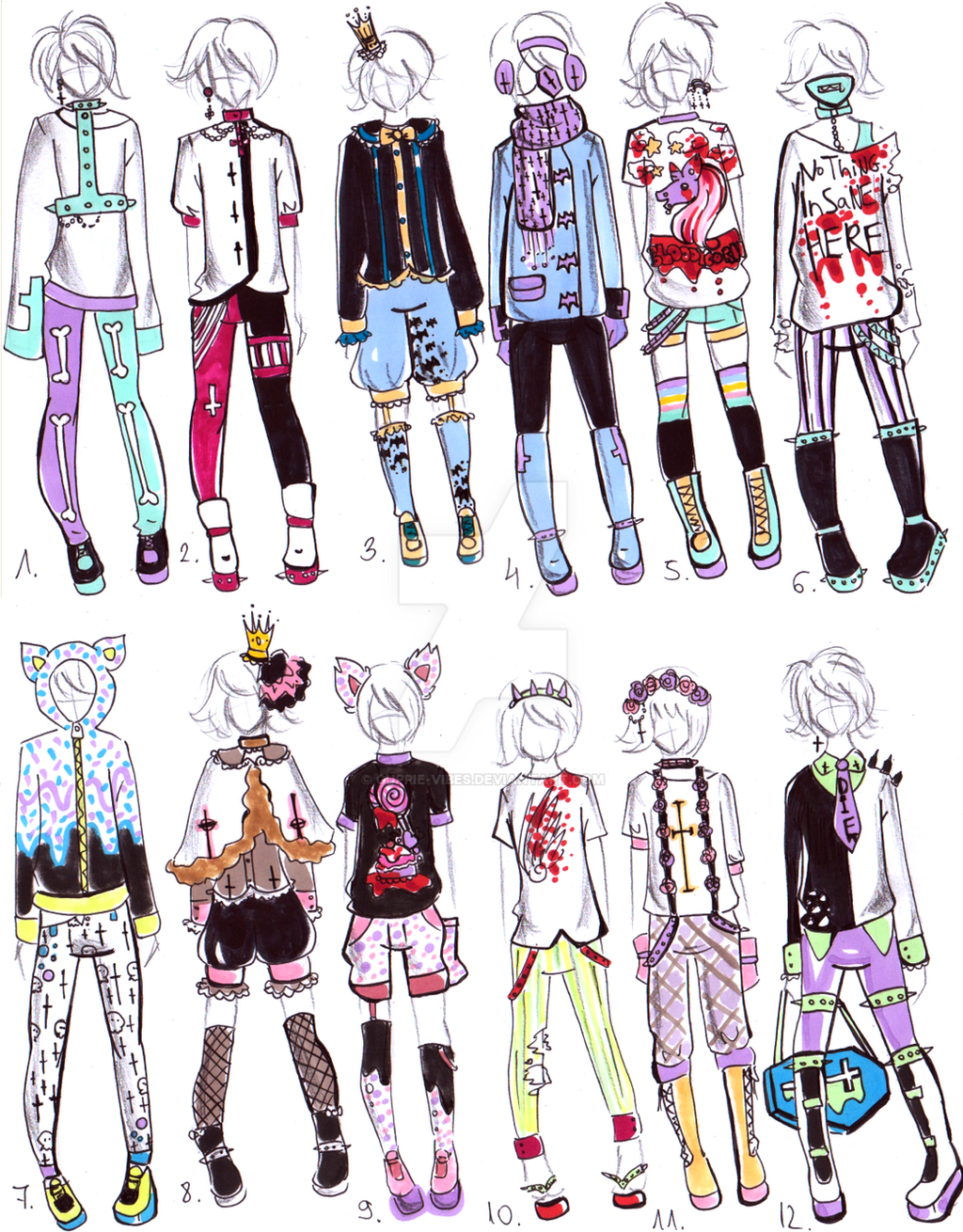 Closed Pastel Goth Male Clothes By Guppie Vibes On