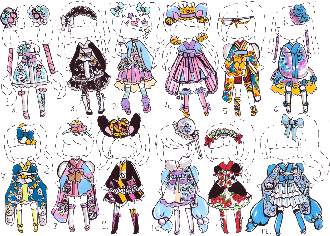 CLOSED Kimono Inspired OUTFIT ADOPTS By Guppie Adopts On DeviantArt