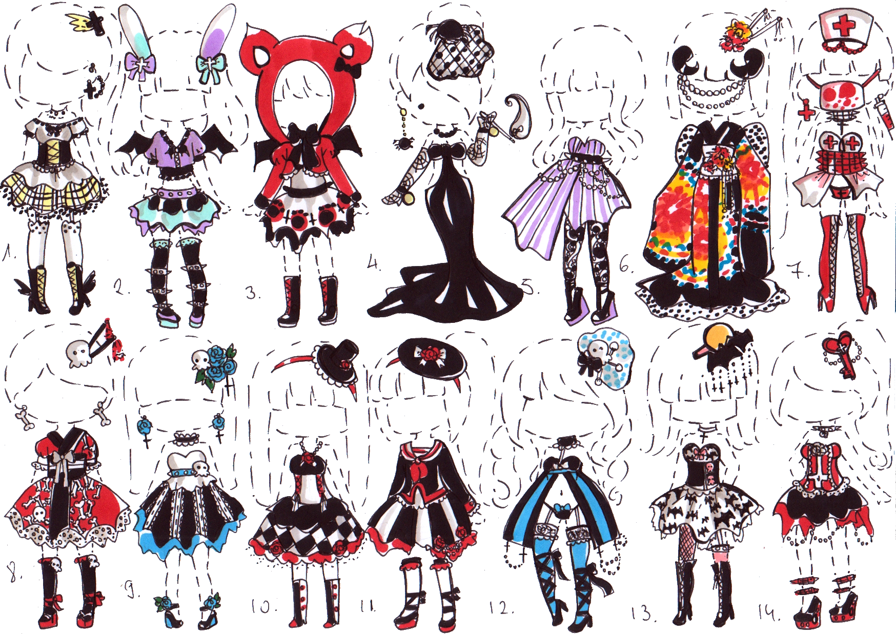CLOSED Goth Clothes By Guppie Adopts On DeviantArt