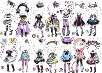 CLOSED-Pastel goth collection