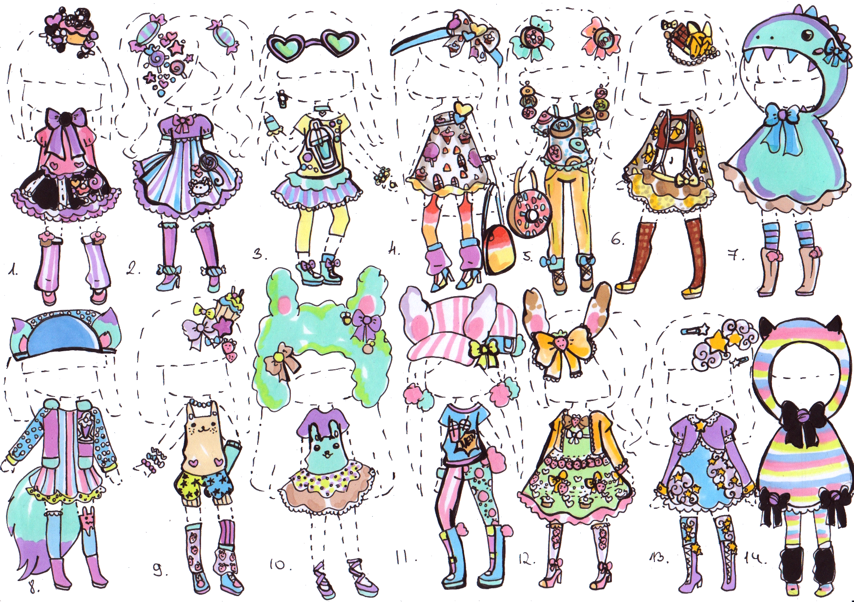 CLOSED Kawaii Deco Collection By Guppie Adopts On DeviantArt