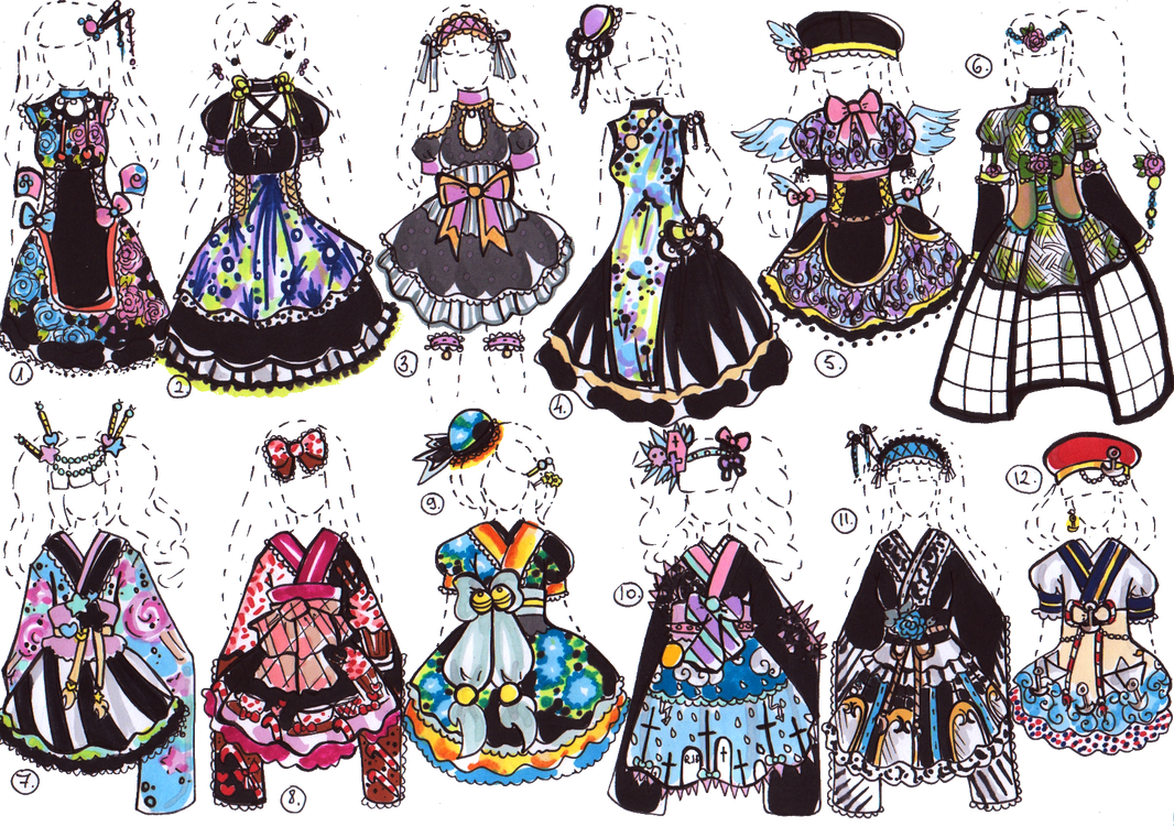 CLOSED- Kimono dresses by Guppie-Vibes on DeviantArt