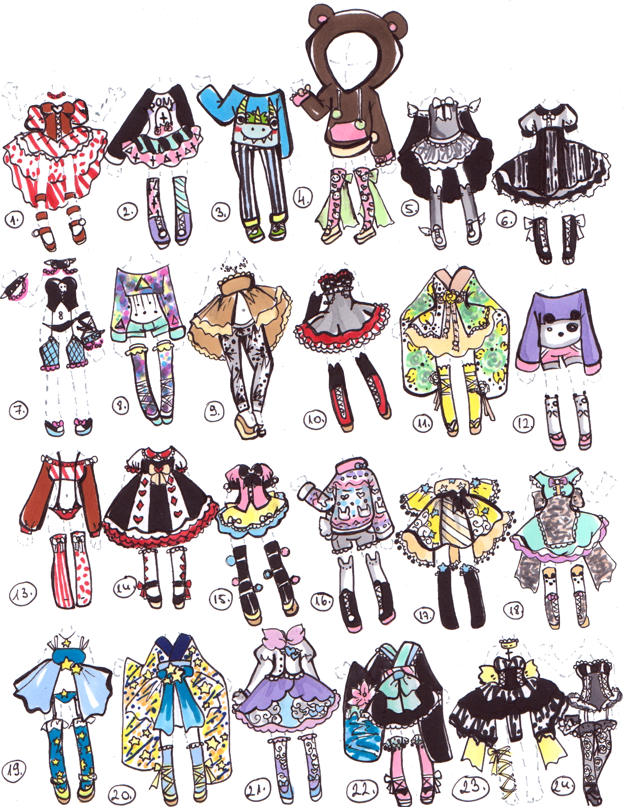 Closed Adoptable Outfits By Guppie Vibes On Deviantart