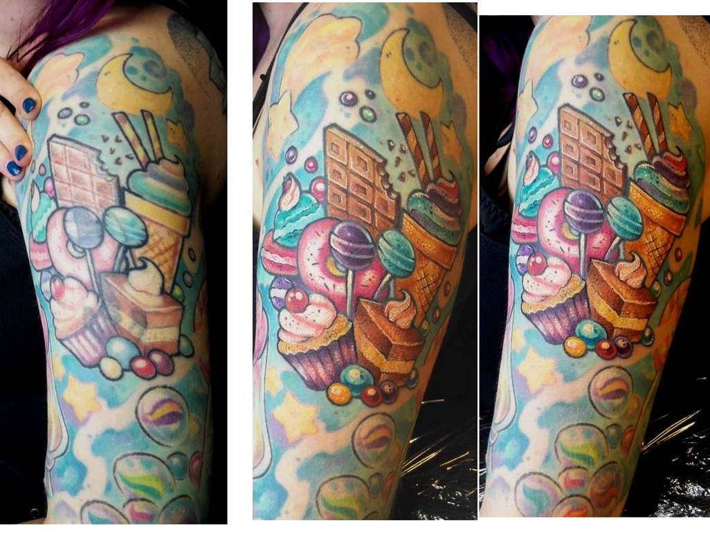 Candy Tattoo BEFORE-AFTER - Personal by Guppie-Vibes on DeviantArt