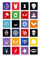 Super Heros Tshirt (Modern UI Style) by AieAieEye
