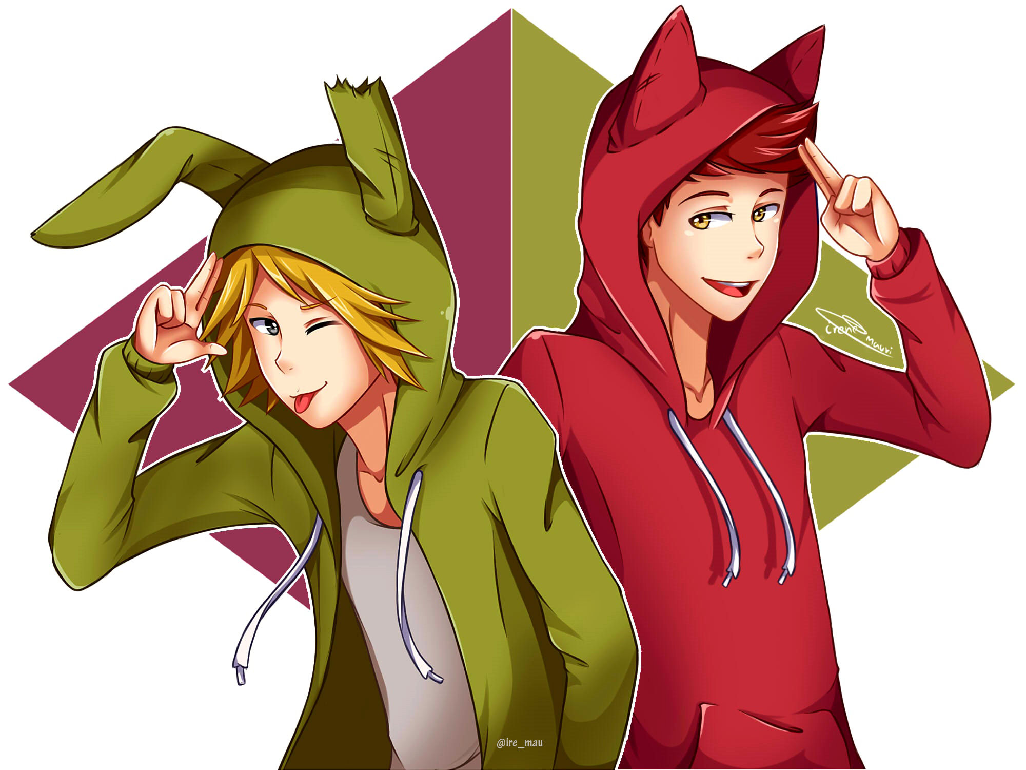 Springtrap y foxy by iremau on deviantart