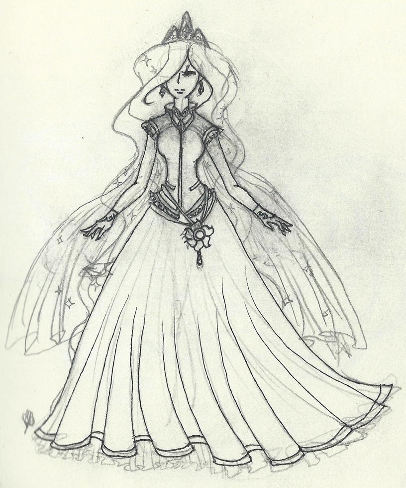 Human Celestia Sketch by FountainStranger
