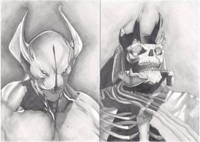 Balanar - Night Stalker/ Leoric - Skeleton King by AdrianoPlat00n