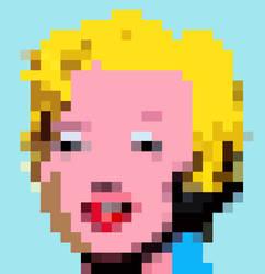 Pixelization Andy Warhol's 'Marilyn' by maggiemgill