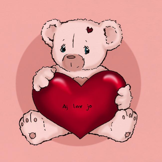 I love you teddybear by bananacosmicgirl
